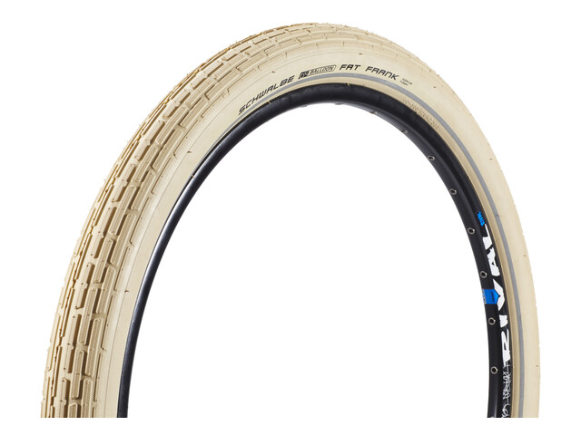 "SCHWALBE Fat Frank Bike Tyre Active 26"" SBC, wire bead beige"
